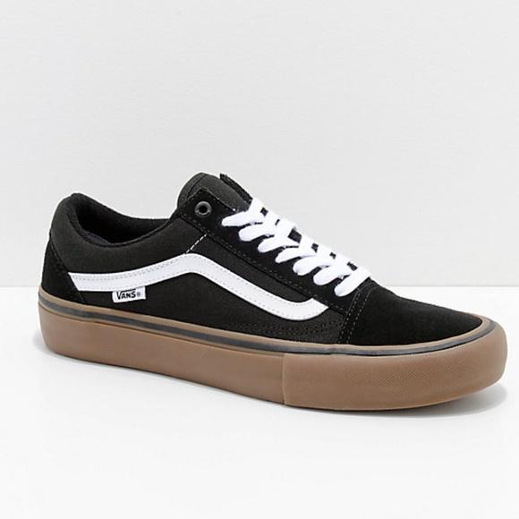 Vans Old Skool Pro Black, White & Gum Shoes NWT